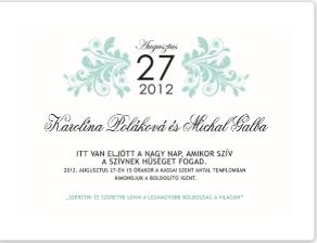 egyszerű esküvői meghívó
